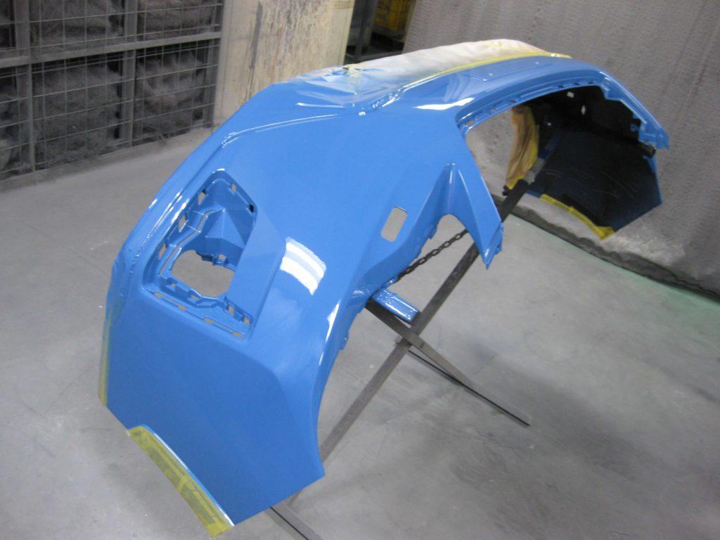 スバル・XV、フロントバンパークリアー塗装
