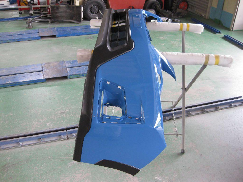 スバル・XV、フロントバンパー部品の取り付けの準備