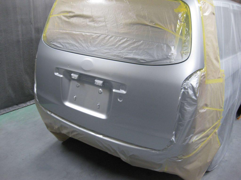 トヨタ・プロボックス、バックドアクリアー塗装