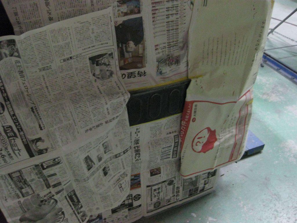 ホンダ・N-WGN、バックパネルサフェーサー下地塗装前