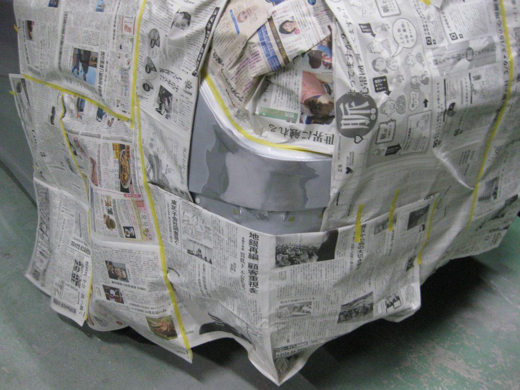 トヨタ・ウィッシュ、クォーターパネル サフェーサー下地塗装前