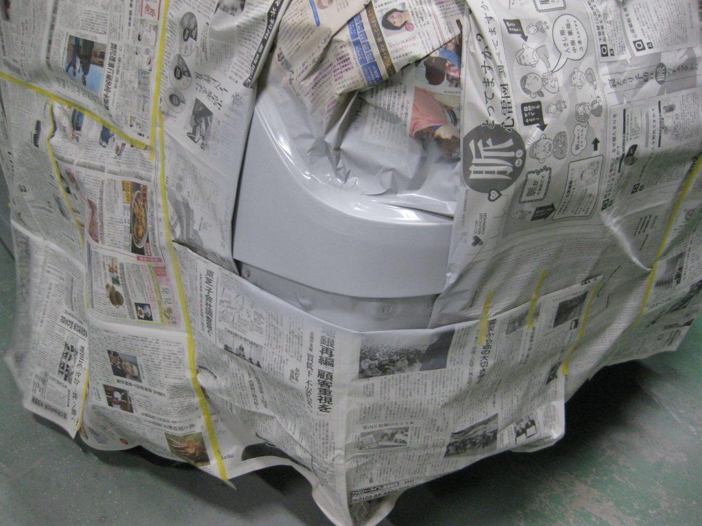 トヨタ・ウィッシュ、クォーターパネルサフェーサー塗布