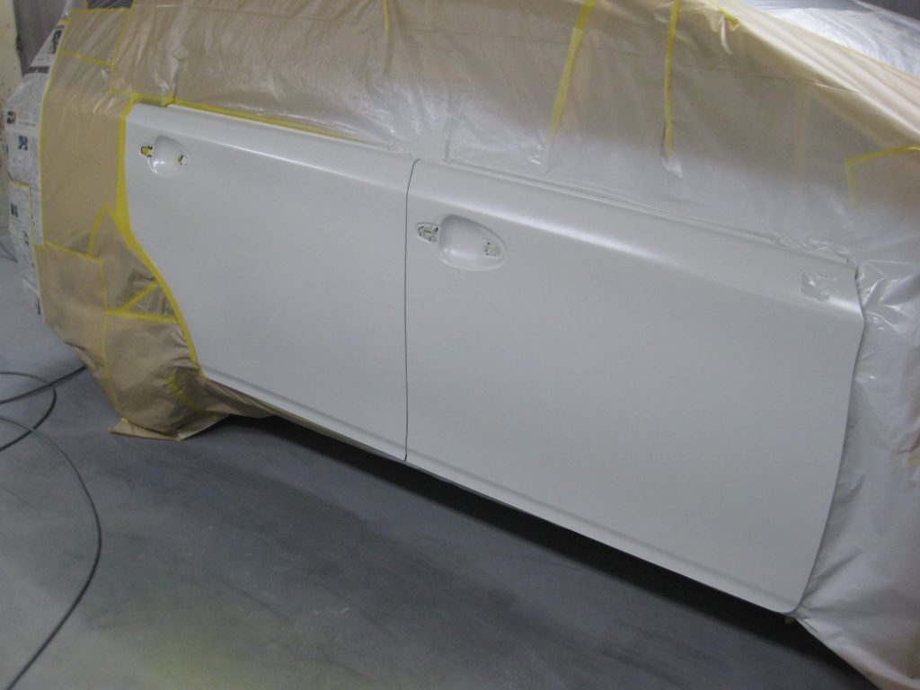 トヨタ・ウィッシュ、ドアパネル、ベースコート塗装