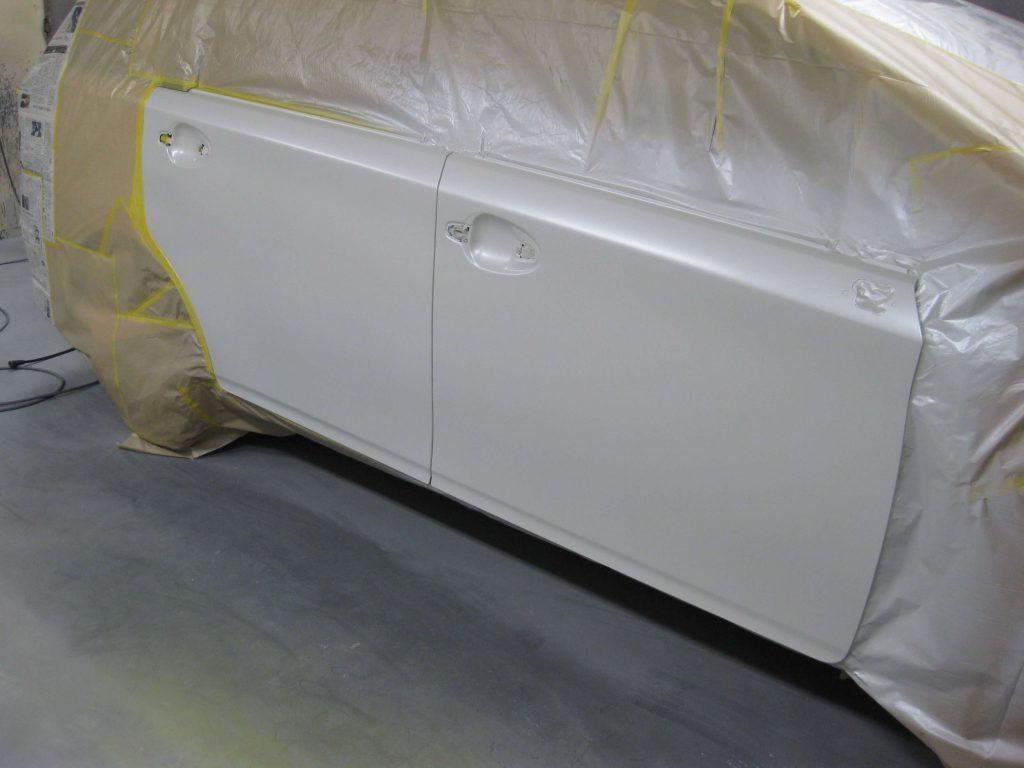 トヨタ・ウィッシュ、ドアパネル、パールベース塗装