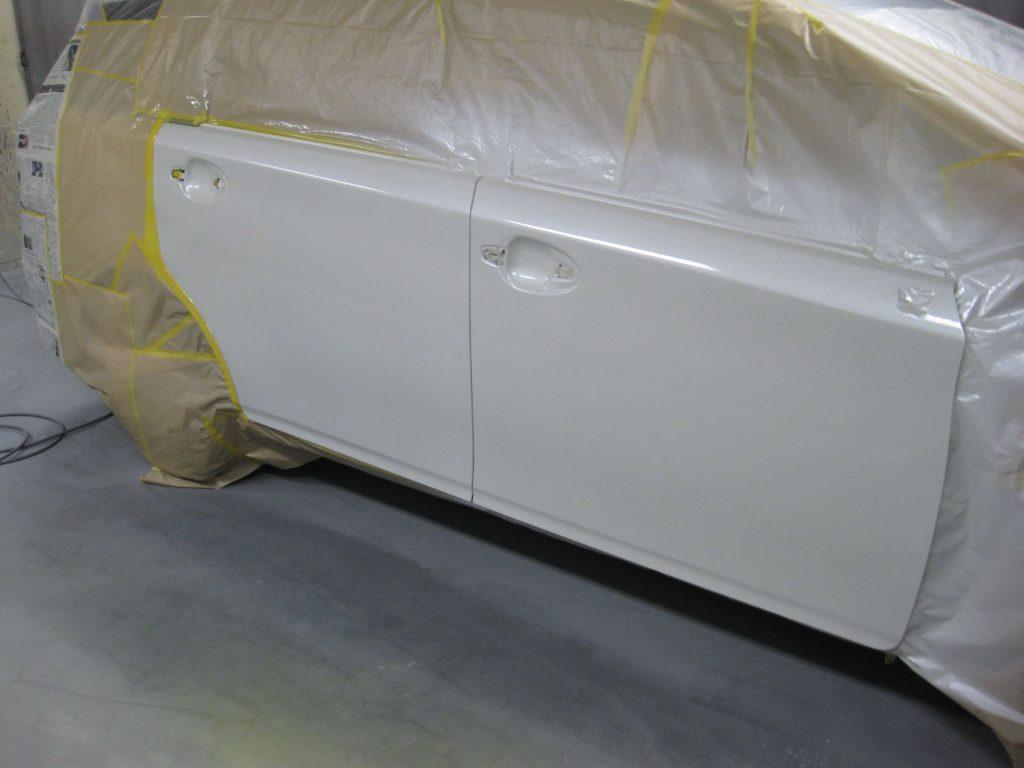 トヨタ・ウィッシュ、ドアパネル、クリアー塗装