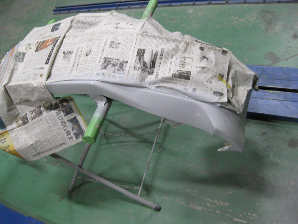 レクサスGS350、サフェーサー下地塗装後
