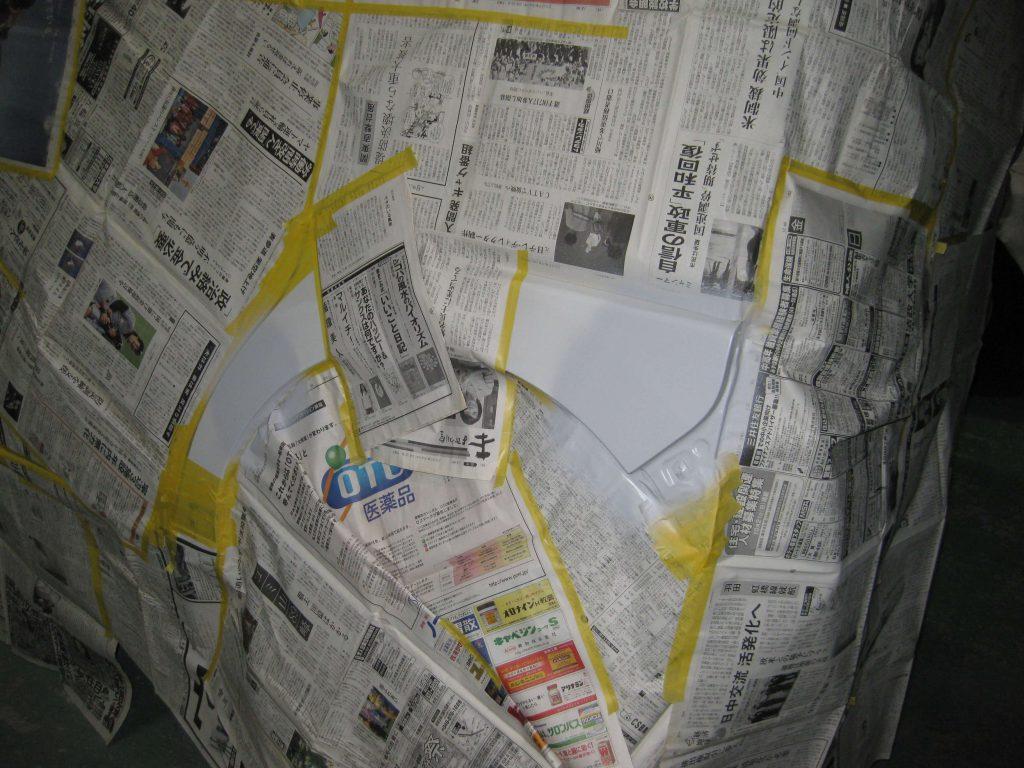 ダイハツタント、リアフェンダーサフェーサー塗布