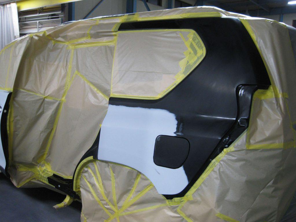トヨタ・ランドクルーザープラド、クォーターパネル、塗装前