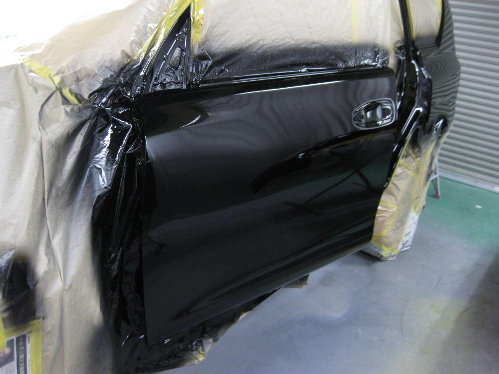 トヨタ・ランドクルーザープラド、フロントドア、クリアー塗装